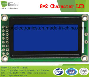 8X2 Character LCD Module, MCU 8bit, Blue Background, COB Stn LCD Display pictures & photos