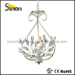 Wrought Iron and Crystal Light Chandelier Pendant White Fixture Lighting Pendant Lamp pictures & photos