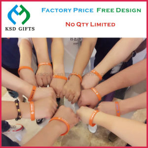 Custom 100% Silicone Bracelet/Rubber Band/Silicon Wristband pictures & photos