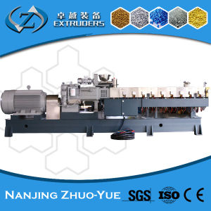 Hte Plastic Twin Screw Extruder Recycling Machine Line pictures & photos