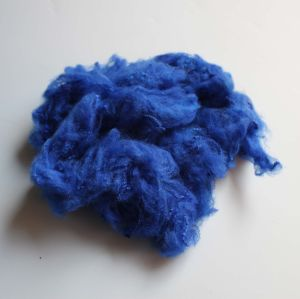 Solid Polyester Staple Fiber-Dark Yellow pictures & photos