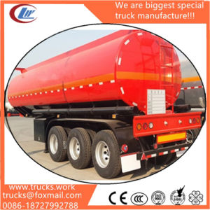 Leak Proof Structure 2 Man Holes Steel Shell 3 Axle Petroleum Tank Trailer pictures & photos