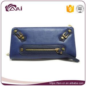 2017 Latest Handmade Modern Wallet. PU Money Wallet, Long Women Zip Wallet pictures & photos