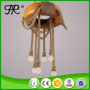 Yellow Tyre Hemp Rope Pendant Light with Six Lights pictures & photos
