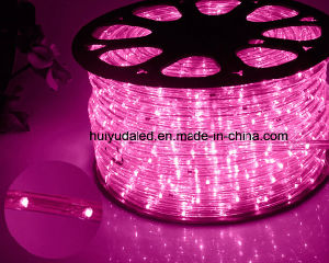 LED Rope Light/Outdoor Light/LED Strip Light/Neon Light/Christmas Light/Holiday Light/Hotel Light/Bar Light Round Two Wires Purple Color 25LEDs 1.6W/M LED Strip pictures & photos