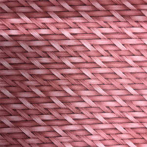 Bamboo Weaving Woven Pattern Cork Leather Materia for Shoe (HS-M311) pictures & photos