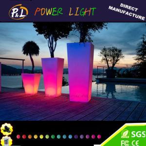 Plastic Square Floor LED Flower Planter pictures & photos