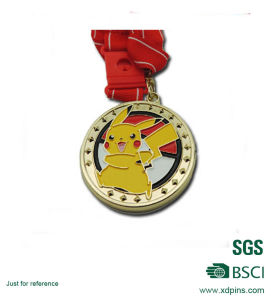 Cheap Iron Metarial Gold Plated Soft Enamel Pikachu Logo Medal pictures & photos