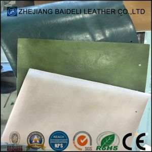 Synthetic Microfiber Leather Backing Color Same as Surface for Sofa Upholstery pictures & photos