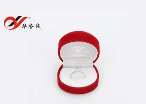 Half Round Shape Red Velvet Ring Box pictures & photos