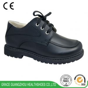 Health Shoes School Shoes Leather Student Footwear pictures & photos