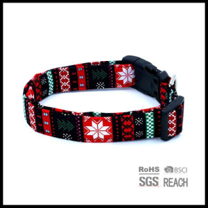 Flower Pattern Comfortable Canvas Pet Dog Collar pictures & photos