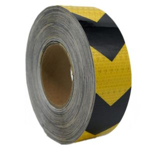 PVC Arrow Safety Reflective Warning Tape, Yellow/Black pictures & photos