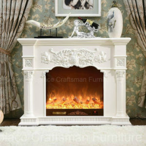 Ce Approved MDF Home Furniture European Style Electric Fireplace (318B) pictures & photos