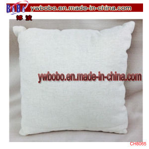 Square Tan White Silver Bell Flower Pillow Christmas Decoration (CH8065) pictures & photos