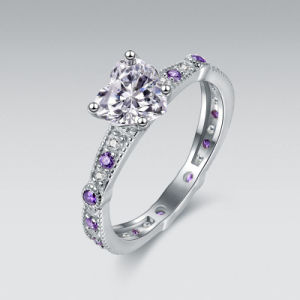 Purple Engagement Ring Set - 18 pictures & photos