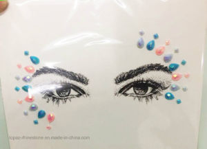 2017 New Arrival Eye Eyebrow Sticker Face Skin Crystal Tattoo Diamond Sticker for DIY (S059) pictures & photos
