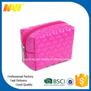 High Quality Quilted PU Leather Cosmetic Bag pictures & photos