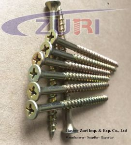 C1022 Steel Hardend Drywall Screws Yellow Zinc 4.8*80 pictures & photos