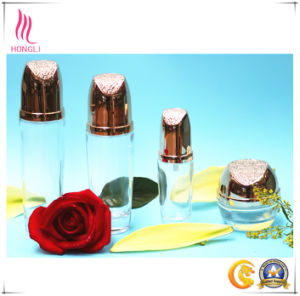 High Transparency Glass Container with Shining Lid pictures & photos
