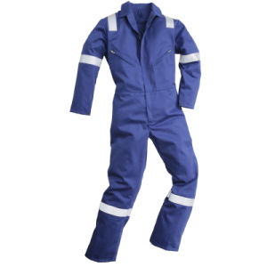 High Visibility Coverall Workwear Airport Workwear with Reflective Tape pictures & photos