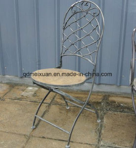 Europe Type Restoring Ancient Ways Do Old Iron, Wrought Iron Single Chair, Outdoor Chair Stool Sitting Room Garden Chair (M-X3766) pictures & photos