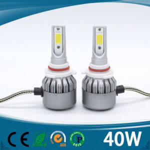 Super Bright H1 H3 H4 H7 H8 H9 H11 9005 9006 40W 4500lm COB Auto LED Headlight pictures & photos