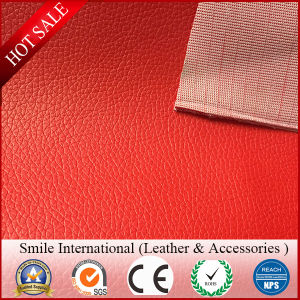 Red Sofa Leather Bags PVC Leather Classic design Hot Wholesale From Factory Kniffed Backing 0.8mm pictures & photos