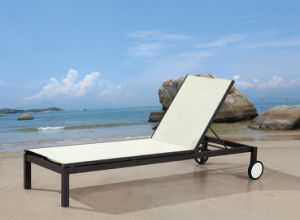 Garden Textilene Chaise Lounge for Outdoor Furniture (LN-812) pictures & photos