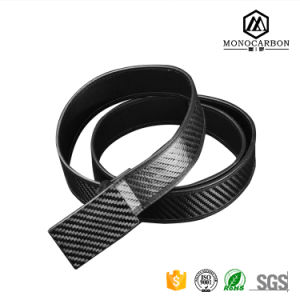 High Quality Carbon Fiber Real Belt Custom Manufatures Men Belts Buckle Famous Brand with Low Price pictures & photos