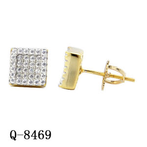 Hip Hop Jewelry Fashion Earrings with Two Tone Plated pictures & photos