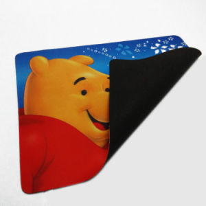 Rubber Mouse Pad with Full Color Printing Cloth Surface pictures & photos