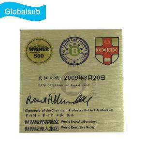 Brush Gold/Silver Blank Sublimation Personalized Aluminum Sheet Photo