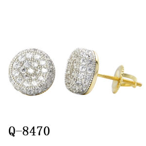 New Arrival Hip Hop Jewelry Silver Earrings Factory Wholesale pictures & photos
