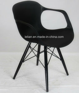Polypropylene Modern Stackable Arm Chair with Metal Leg (LL-0048A) pictures & photos