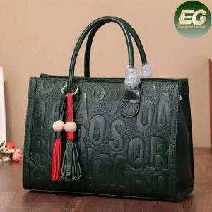 Wholesale Price Women Designer Handbags Embossed Leather Tote Bag Tassels Emg4806 pictures & photos