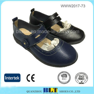 Lightweight Magic Button Closure Rubber Outsole Flat Women Shoes pictures & photos