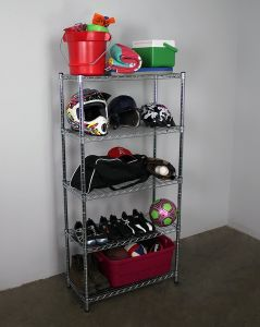 Chrome Plated 5 Tier Adjustable Wire Metal Wire Shelving Rack Storage Organizer pictures & photos