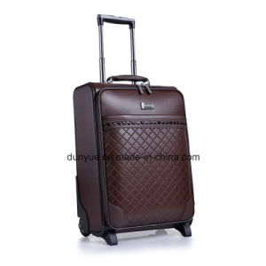 16/20/24 Inch Fashionable Travel Trolley Bag, High Quality PU Leather Luggage Bag with Two Wheels pictures & photos