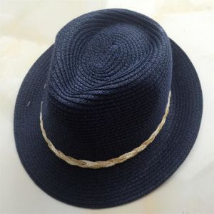 100% Straw Hat, Fashion Fedora Style with String or Band Decoration for Children pictures & photos