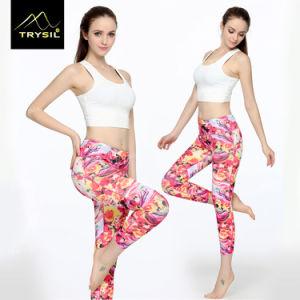 Custom Pattern Yoga Legging Gym Capri Pants for Women pictures & photos
