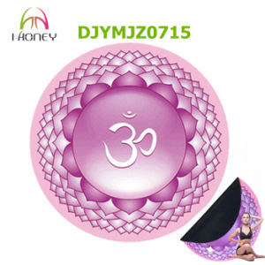 Lotus Om Round Meditation Yoga Mat Pink 140cm Diameter Best for Home Yoga Decoration Yoga Mat pictures & photos