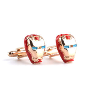 Alloy Marvel Comics Iron Man Mask Enamel Cufflinks