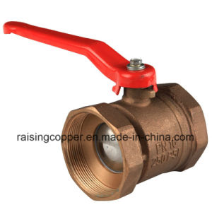 Bronze Ball Valve with Aluminium Handle pictures & photos