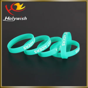 High Quality Silkscreen Custom Logo Men Wristbands Silicone pictures & photos