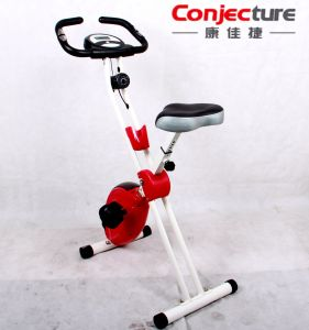 Upright Folding Comfortable Seat Compact Storage Fold up Magnetic Exercise Bike pictures & photos