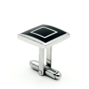 Personal Design Wholesale Simple Enamel Cufflink pictures & photos