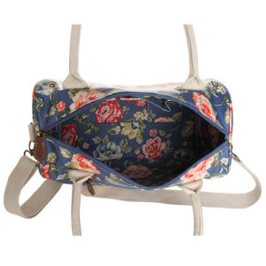 Waterproof Canvas Floral Patterns Large Capacity Boston Bag (99210) pictures & photos