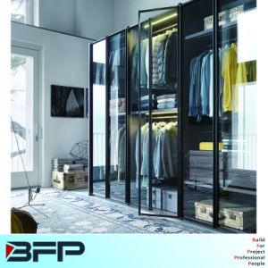 Modern Glass Wardrobe Bedroom Furniture Cabinet pictures & photos
