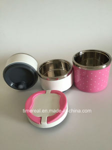 Stainless Steel Food Box Carrier with Hand Xg-005 pictures & photos